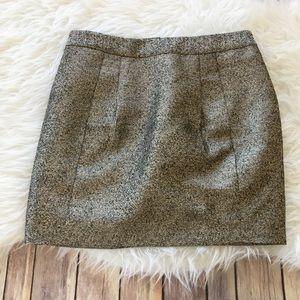 Fossil Gold Speckled Mini Skirt